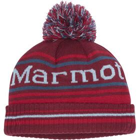 Marmot Retro Cappello con pon pon Ragazzo, rosso